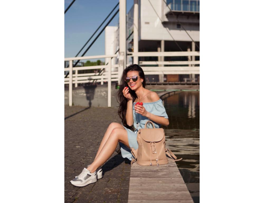 Городской кожаный рюкзак Blancnote BN-BAG-13-crem-brule - Фото № 6