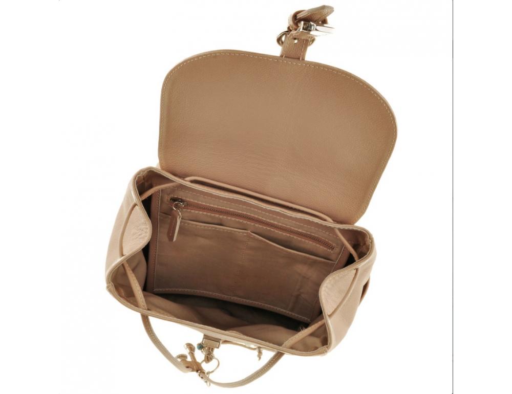 Городской кожаный рюкзак Blancnote BN-BAG-13-crem-brule - Фото № 5