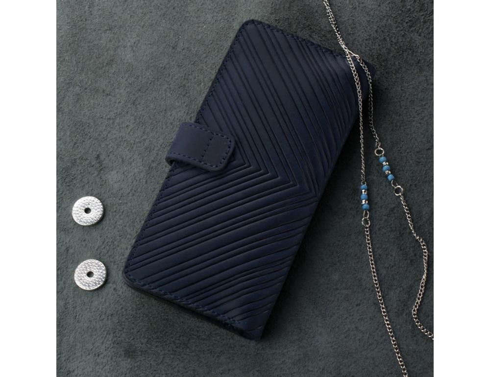 Темно-синій шкіряний гаманець Blanknote BN-PM-7-nn-ls - Фотографія № 3
