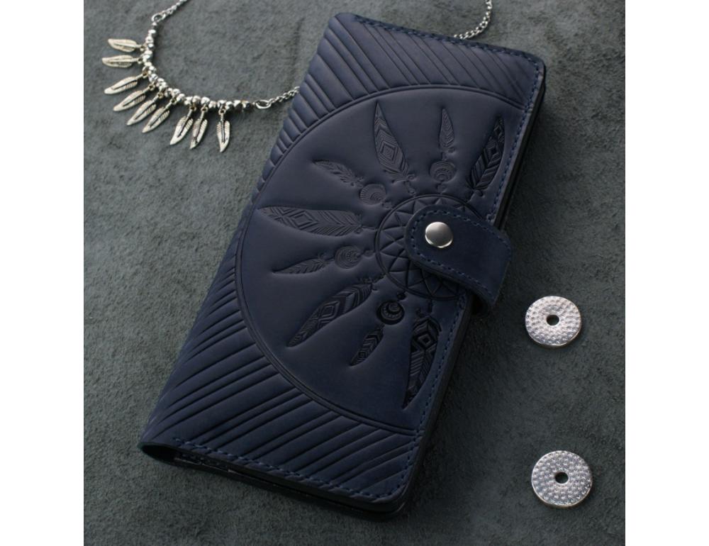 Темно-синій шкіряний гаманець Blanknote BN-PM-7-nn-ls - Фотографія № 5
