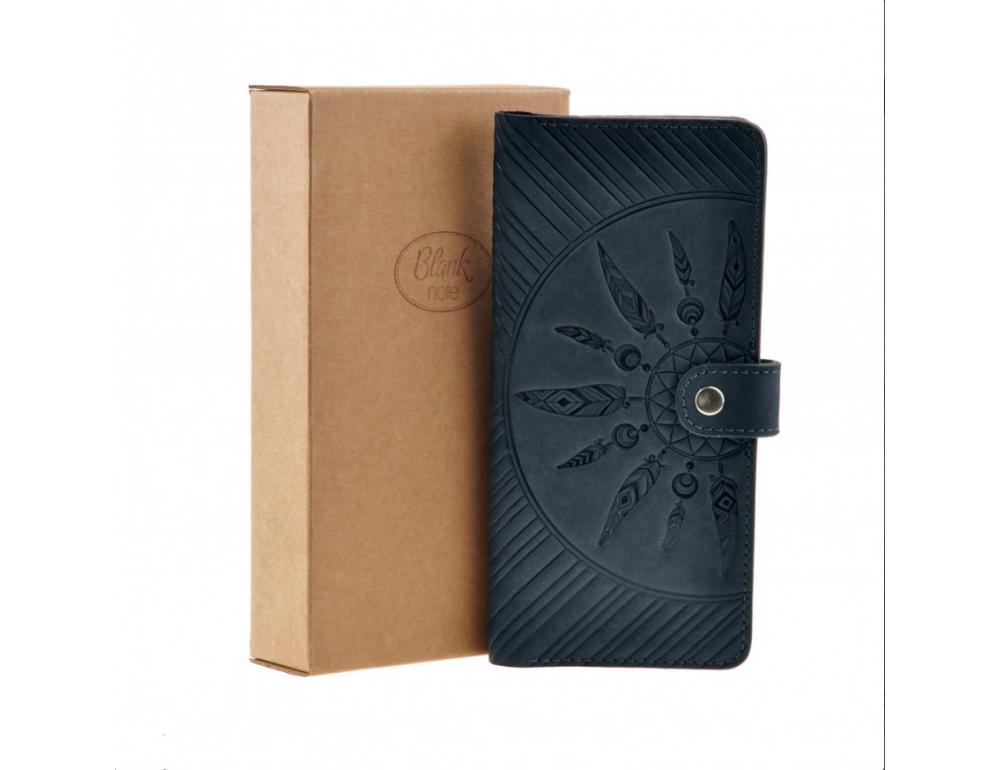 Темно-синій шкіряний гаманець Blanknote BN-PM-7-nn-ls - Фотографія № 6
