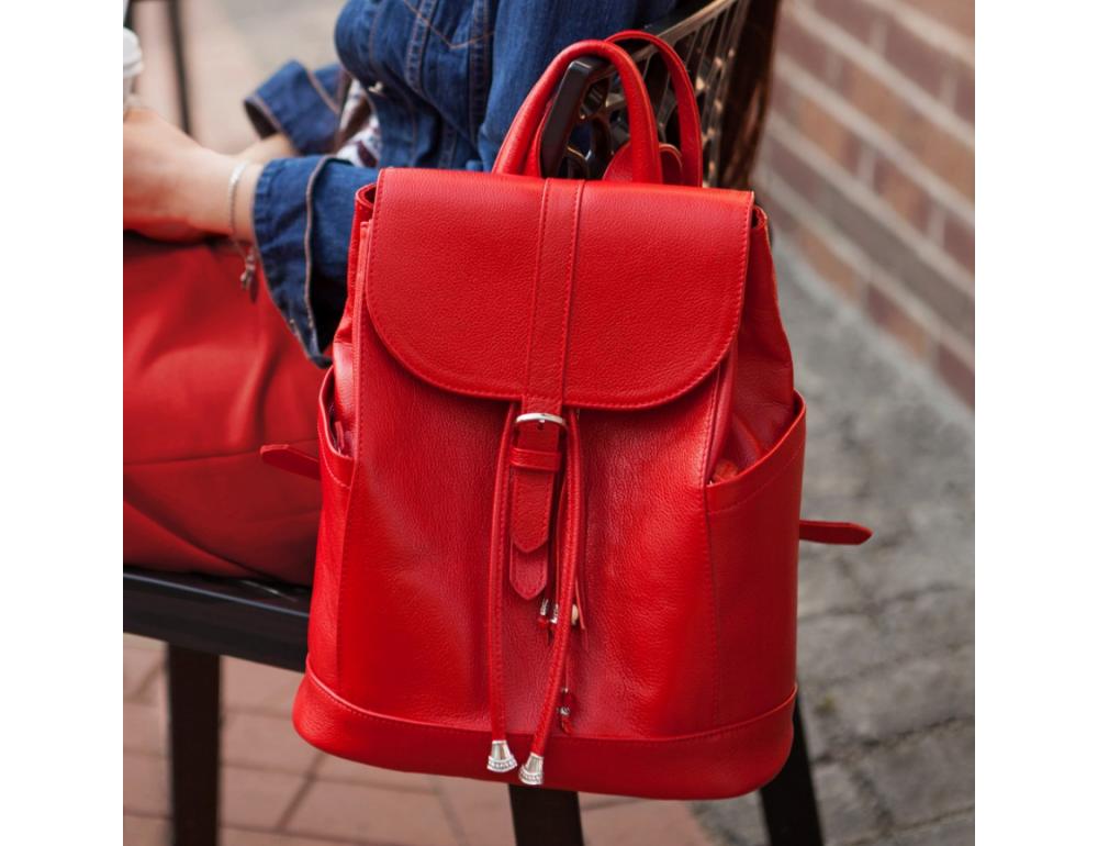 Міський шкіряний рюкзак Blanknote BN-BAG-13-rubin