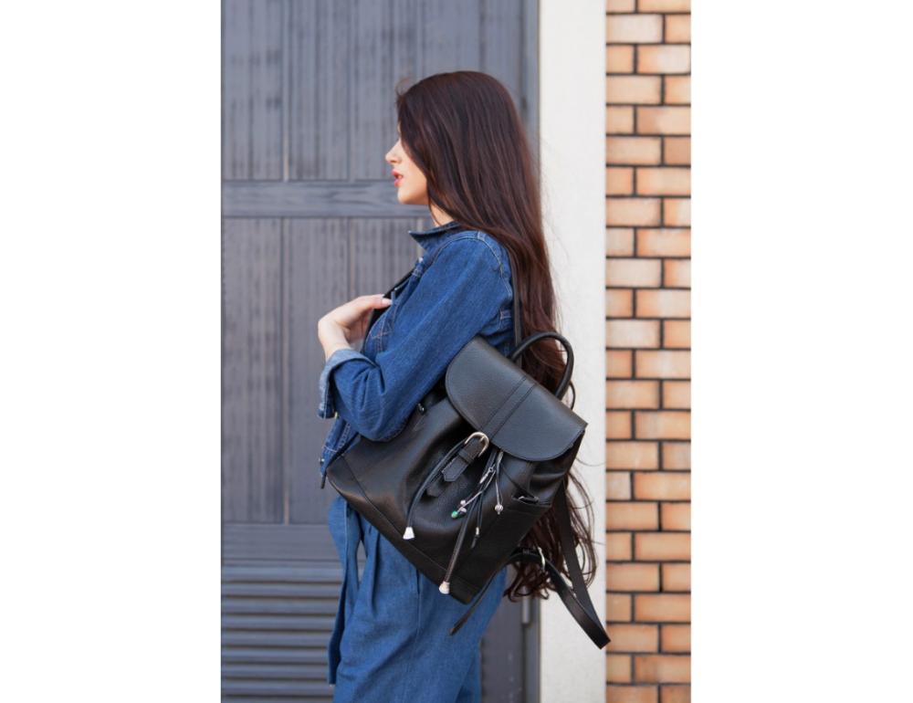 Городской кожаный рюкзак Blanknote BN-BAG-13-onyx - Фото № 2