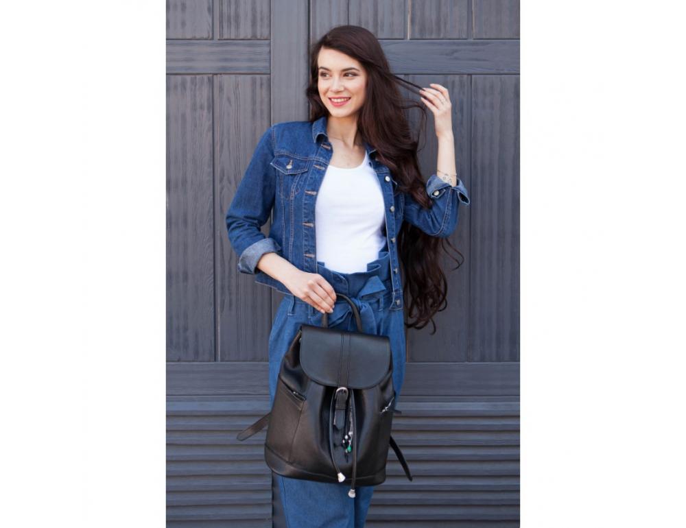 Городской кожаный рюкзак Blanknote BN-BAG-13-onyx - Фото № 4