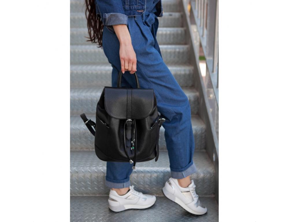 Городской кожаный рюкзак Blanknote BN-BAG-13-onyx - Фото № 6