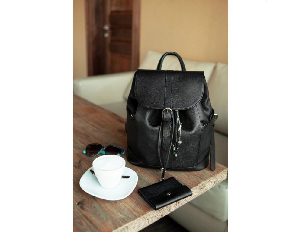 Городской кожаный рюкзак Blanknote BN-BAG-13-onyx - Фото № 3