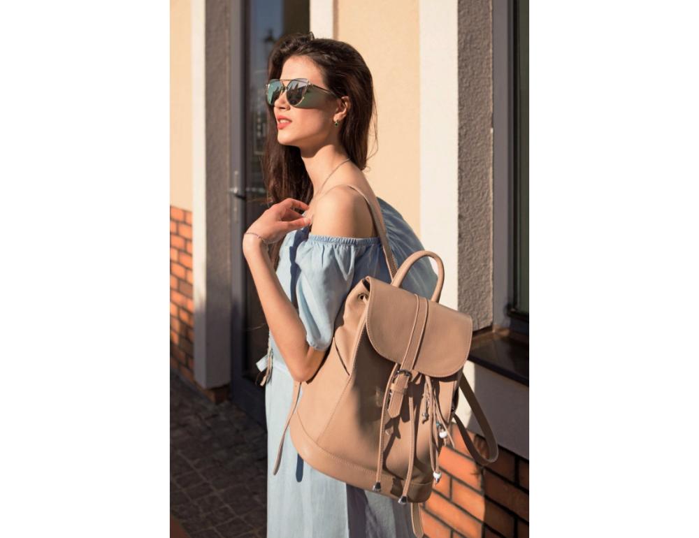Городской кожаный рюкзак Blancnote BN-BAG-13-crem-brule - Фото № 2