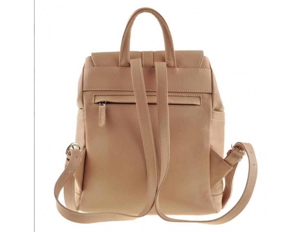 Городской кожаный рюкзак Blancnote BN-BAG-13-crem-brule - Фото № 4