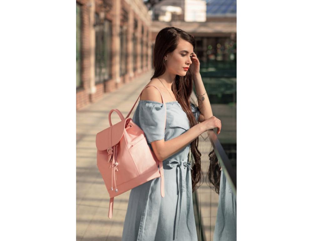Міський шкіряний рюкзак Blancnote BN-BAG-13-barbie - Фотографія № 2