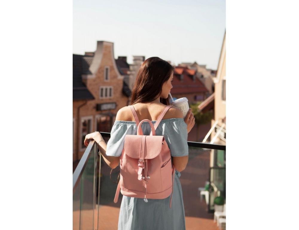 Міський шкіряний рюкзак Blancnote BN-BAG-13-barbie - Фотографія № 4