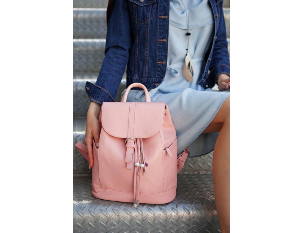 Міський шкіряний рюкзак Blancnote BN-BAG-13-barbie - Фотографія № 5