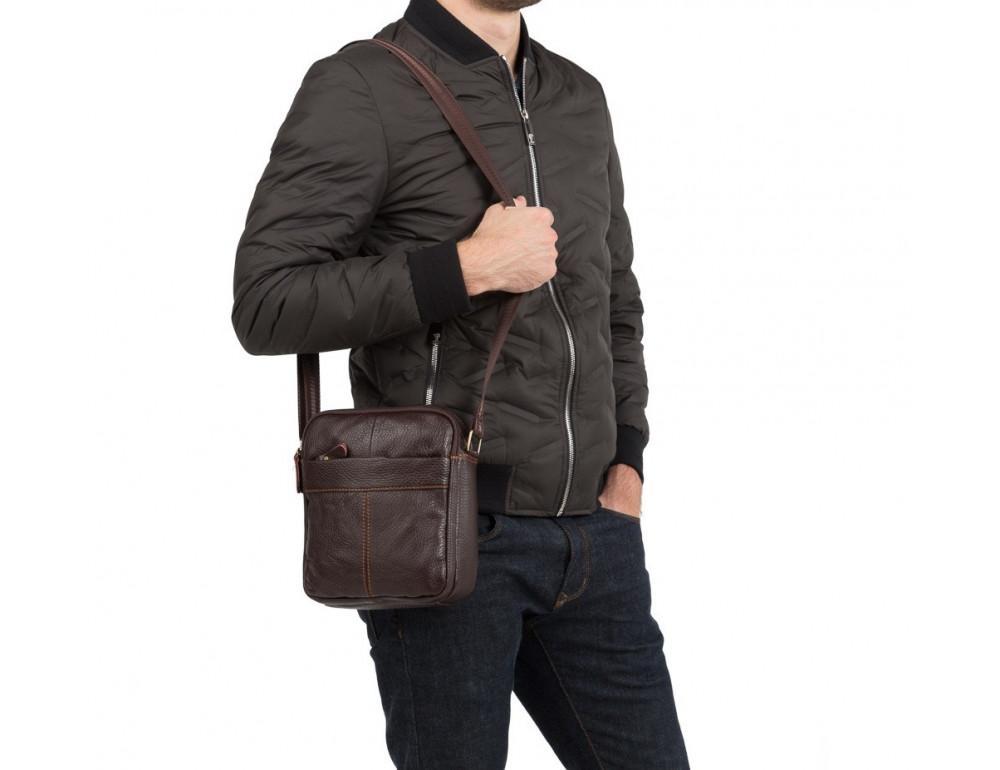 Чоловіча шкіряна сумка планшет TIDING BAG M38-1025C - Фотографія № 2
