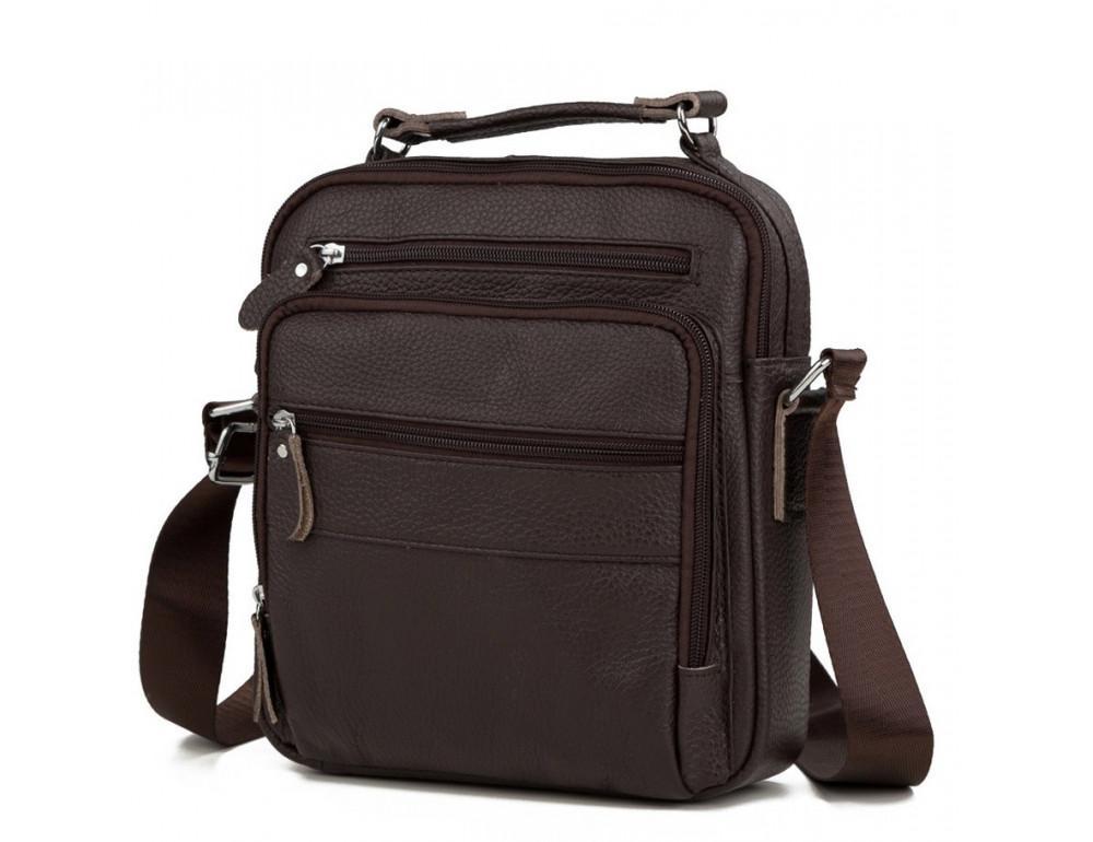 Чоловіча барсетка зі шкіри TIDING BAG M38-5112C коричневий
