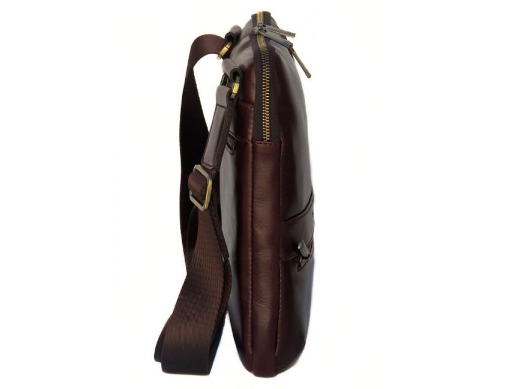 Мужской кожаный мессенджер Black Diamond BD13C ALC коричневый - Фото № 3