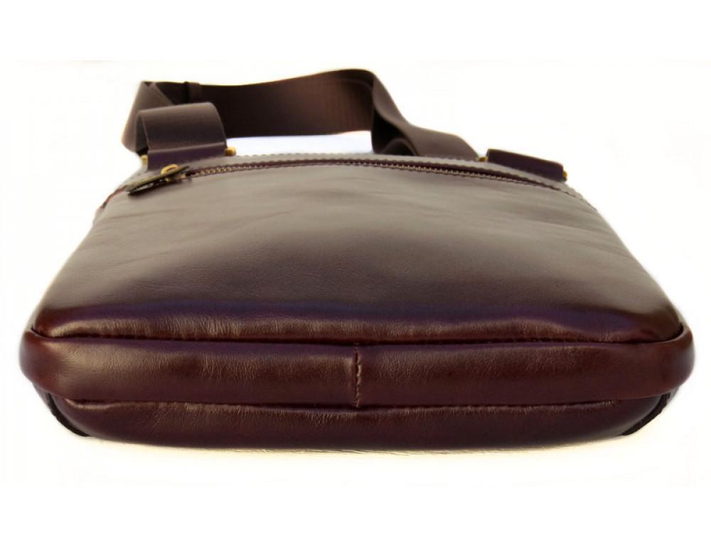 Мужской кожаный мессенджер Black Diamond BD13C ALC коричневый - Фото № 4