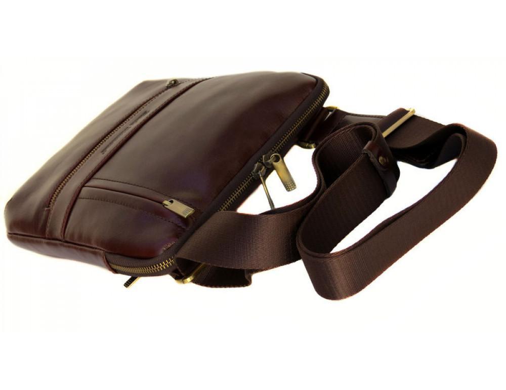 Мужской кожаный мессенджер Black Diamond BD13C ALC коричневый - Фото № 5