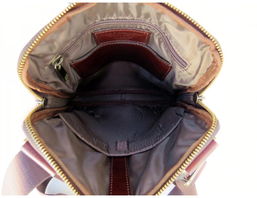 Мужской кожаный мессенджер Black Diamond BD13C ALC коричневый - Фото № 7