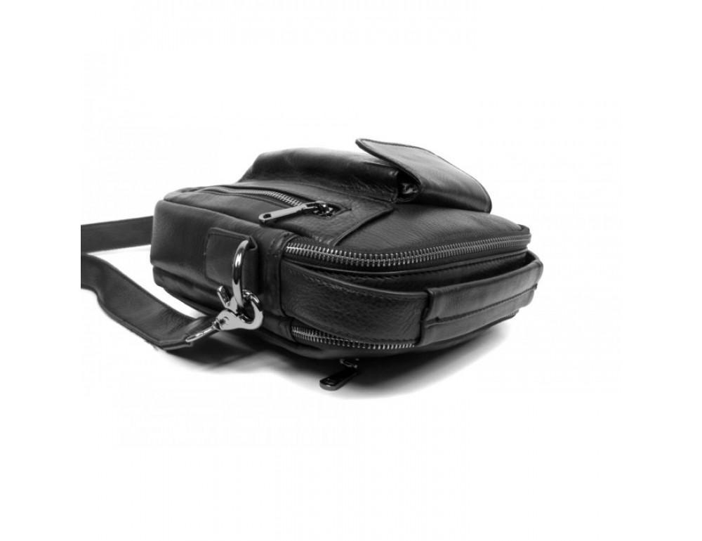 Чоловічий шкіряний месенджер TIDING BAG 5009A чорна - Фотографія № 4