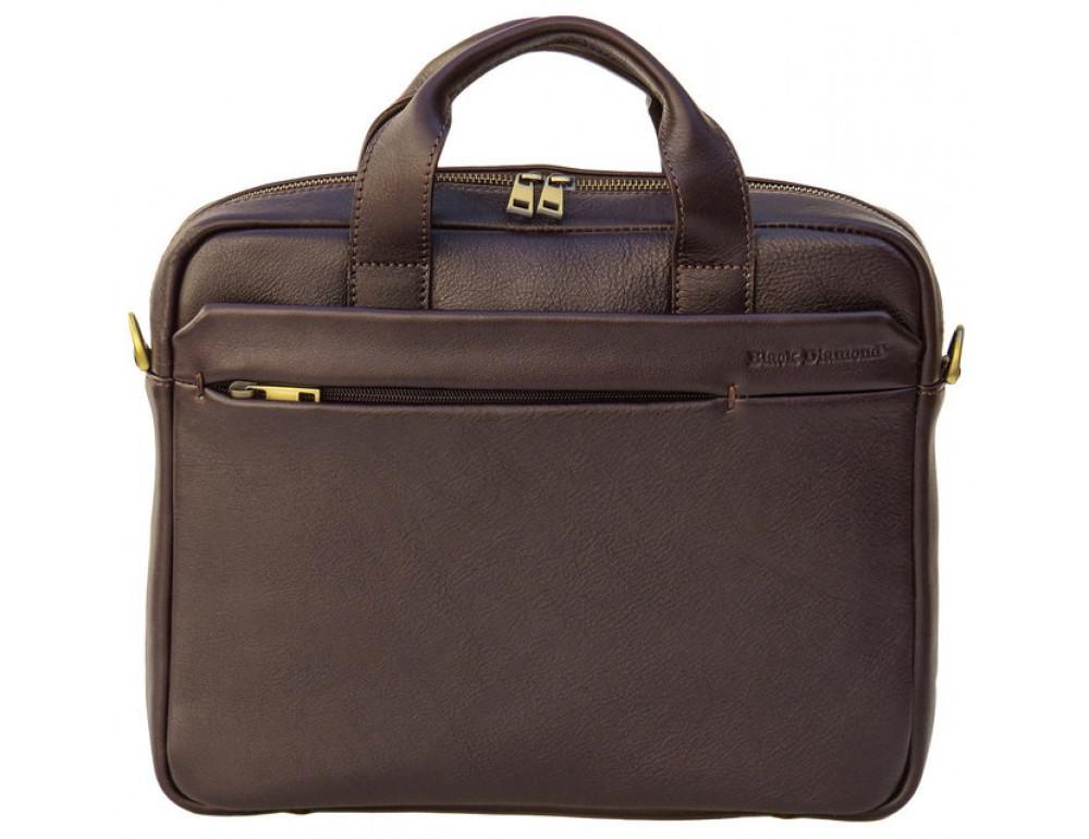 Мужская кожаная сумка Black Diamond BD25С коричневая - Фото № 2