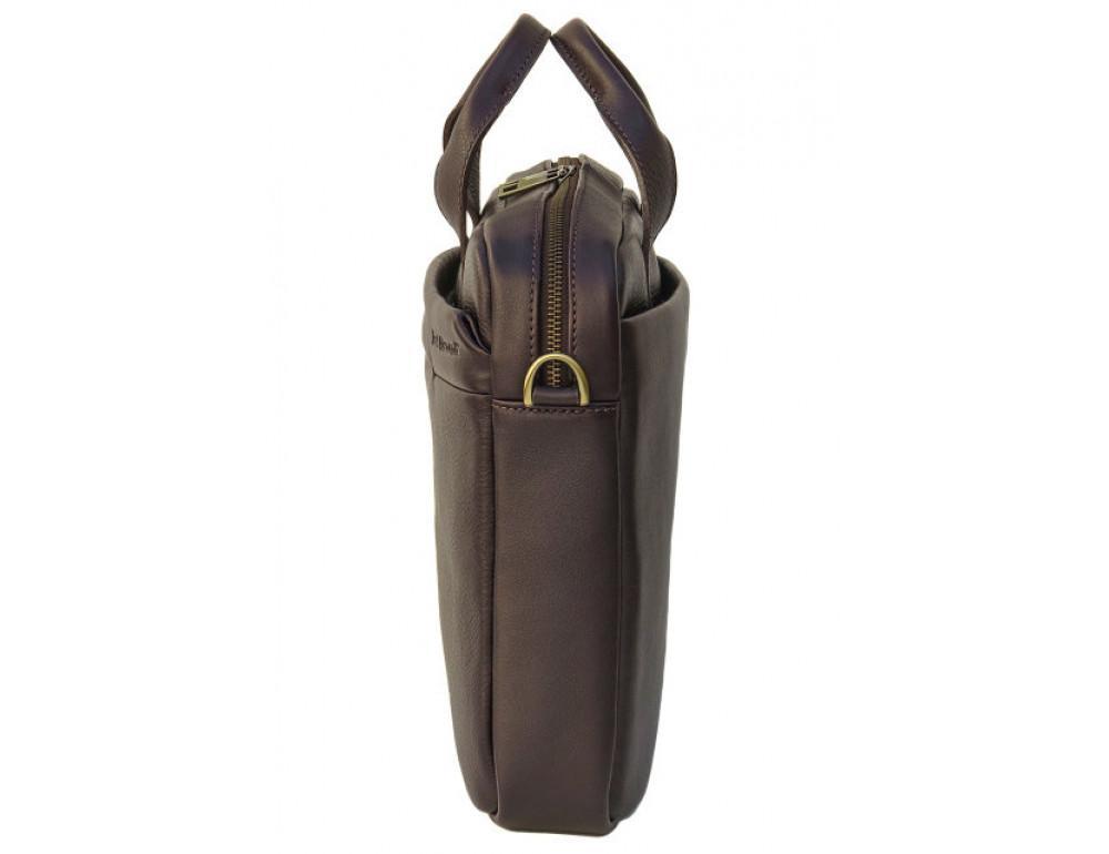 Мужская кожаная сумка Black Diamond BD25С коричневая - Фото № 4