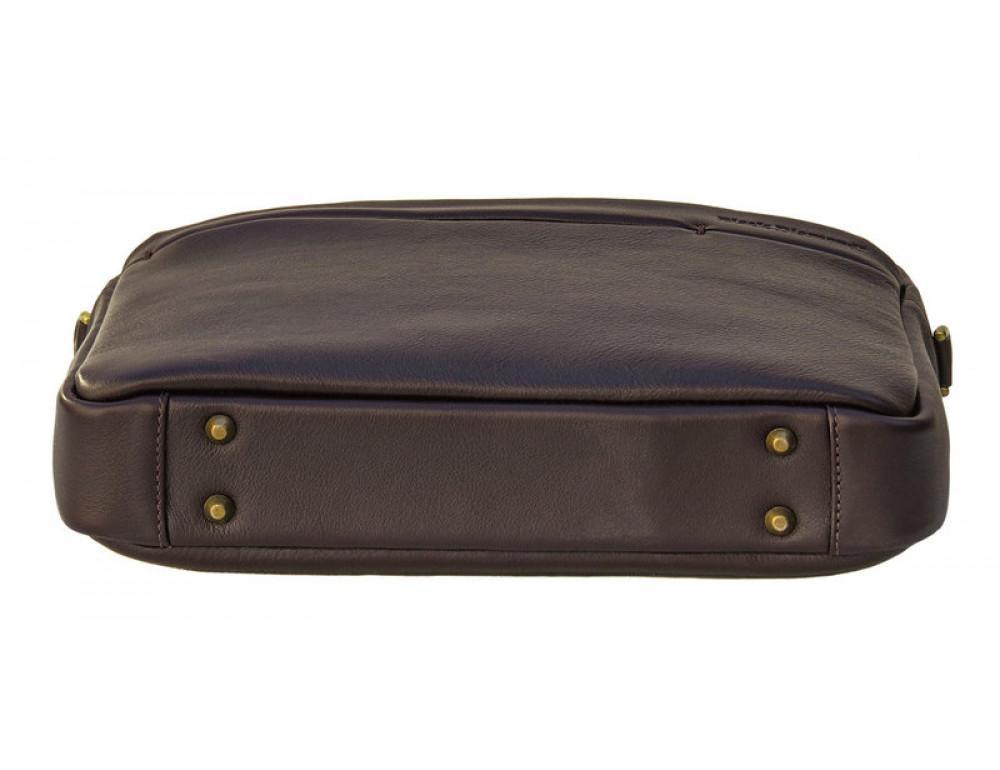 Мужская кожаная сумка Black Diamond BD25С коричневая - Фото № 5