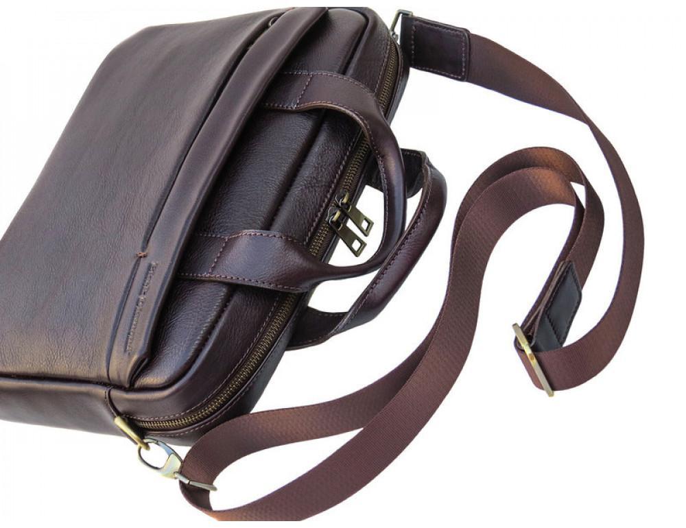 Мужская кожаная сумка Black Diamond BD25С коричневая - Фото № 6