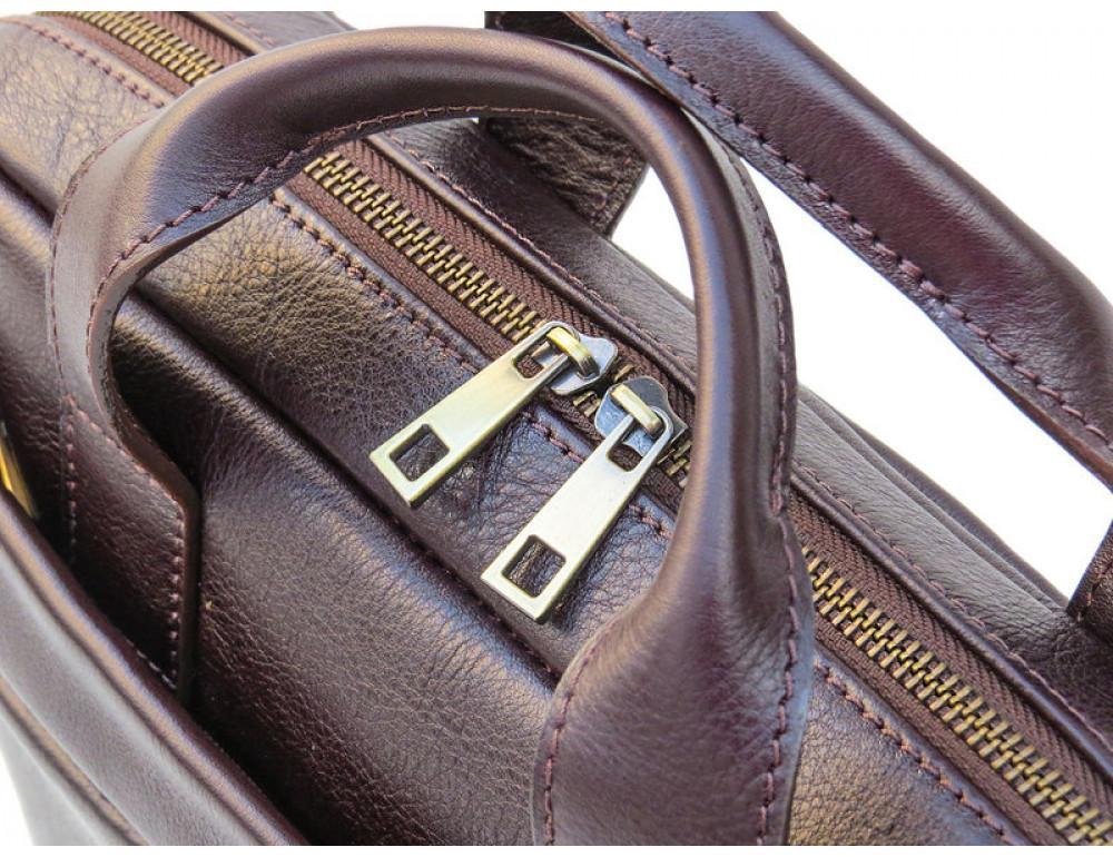 Мужская кожаная сумка Black Diamond BD25С коричневая - Фото № 7