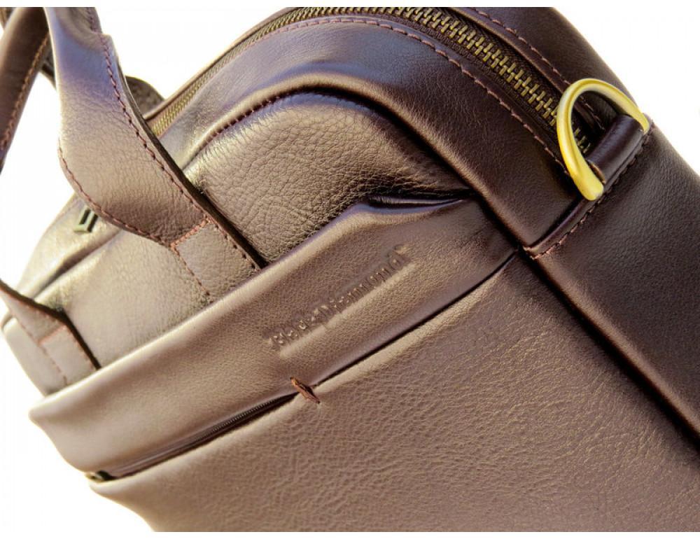 Мужская кожаная сумка Black Diamond BD25С коричневая - Фото № 8