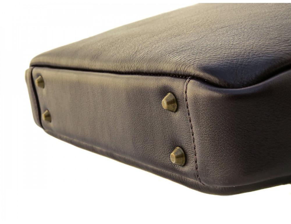 Мужская кожаная сумка Black Diamond BD25С коричневая - Фото № 9