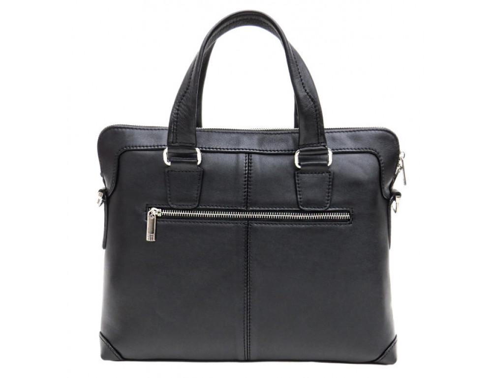 Мужская кожаная сумка под macbook Black Diamond BD37A чёрная - Фото № 3