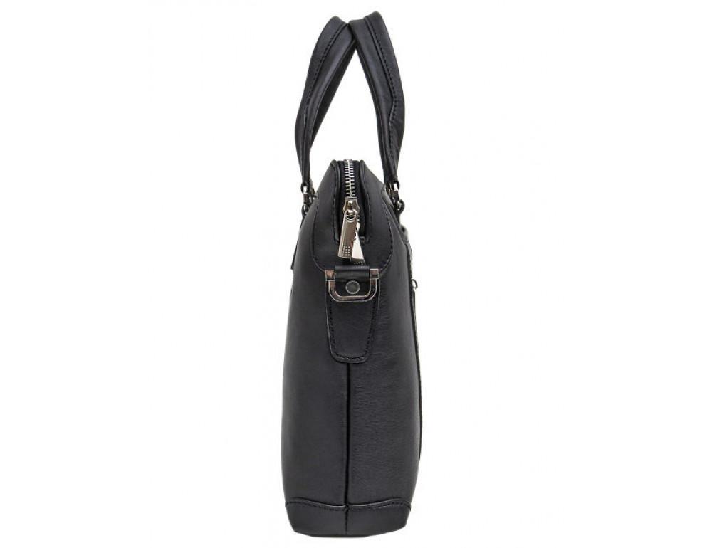 Мужская кожаная сумка под macbook Black Diamond BD37A чёрная - Фото № 4