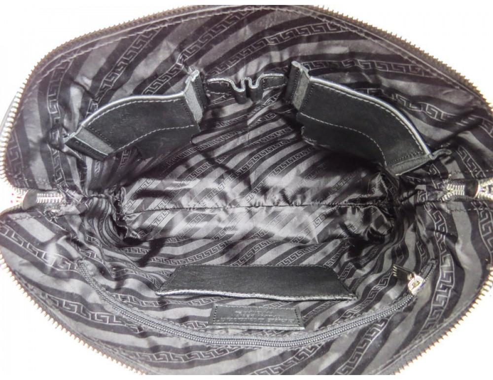 Мужская кожаная сумка под macbook Black Diamond BD37A чёрная - Фото № 8