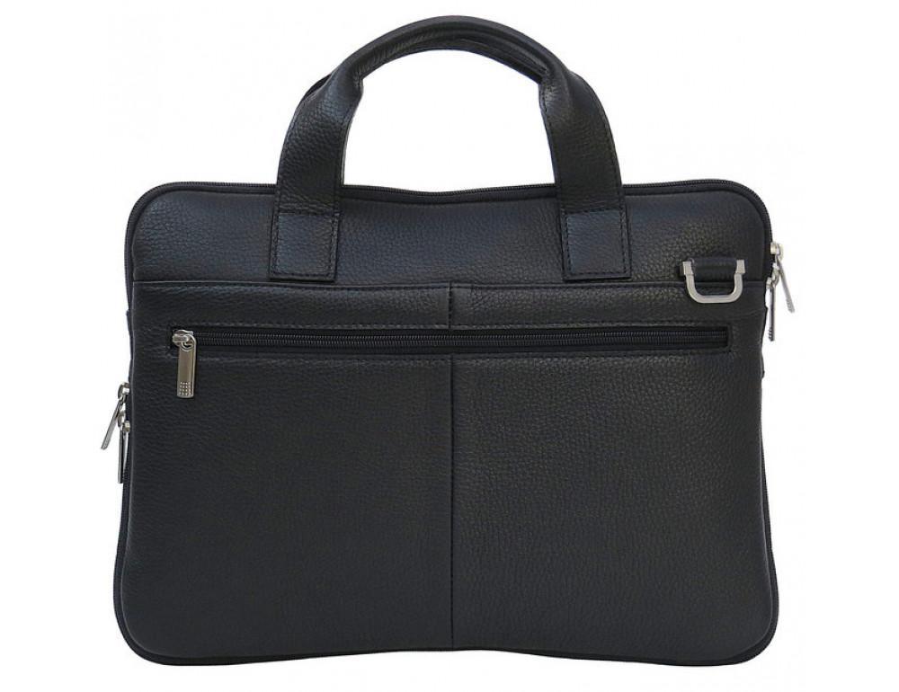 Мужская кожаная сумка под macbook Black Diamond BD27AF чёрная - Фото № 3