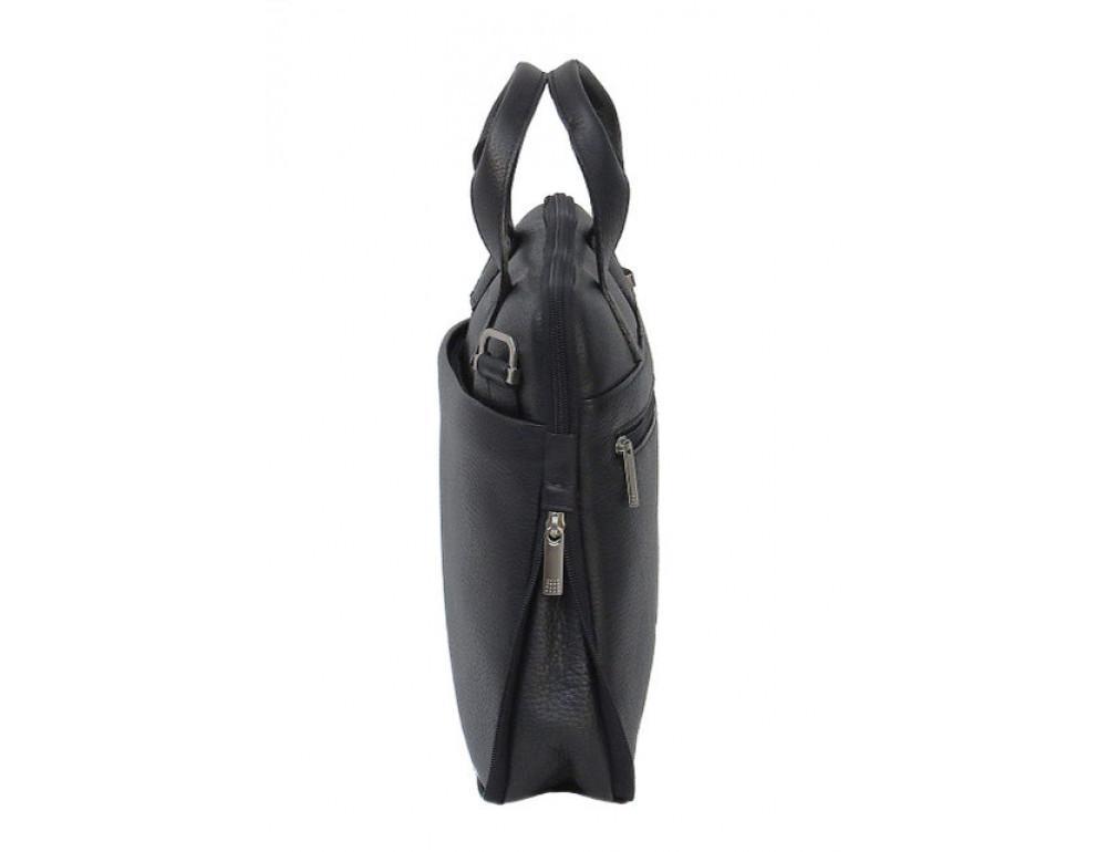 Мужская кожаная сумка под macbook Black Diamond BD27AF чёрная - Фото № 5