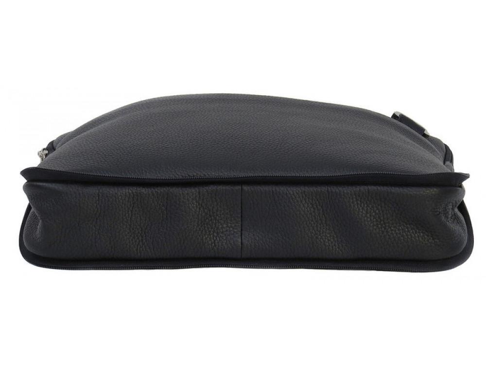 Мужская кожаная сумка под macbook Black Diamond BD27AF чёрная - Фото № 6