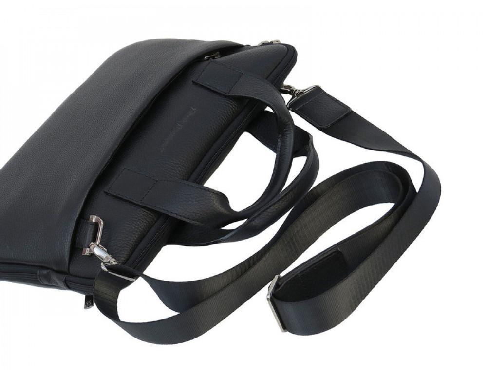 Мужская кожаная сумка под macbook Black Diamond BD27AF чёрная - Фото № 8