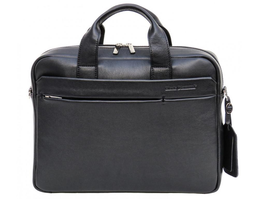 Чоловіча шкіряна сумка Black Diamond BD25-2A чорна - Фотографія № 2
