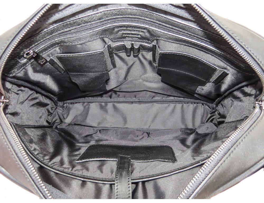 Чоловіча шкіряна сумка Black Diamond BD25-2A чорна - Фотографія № 3