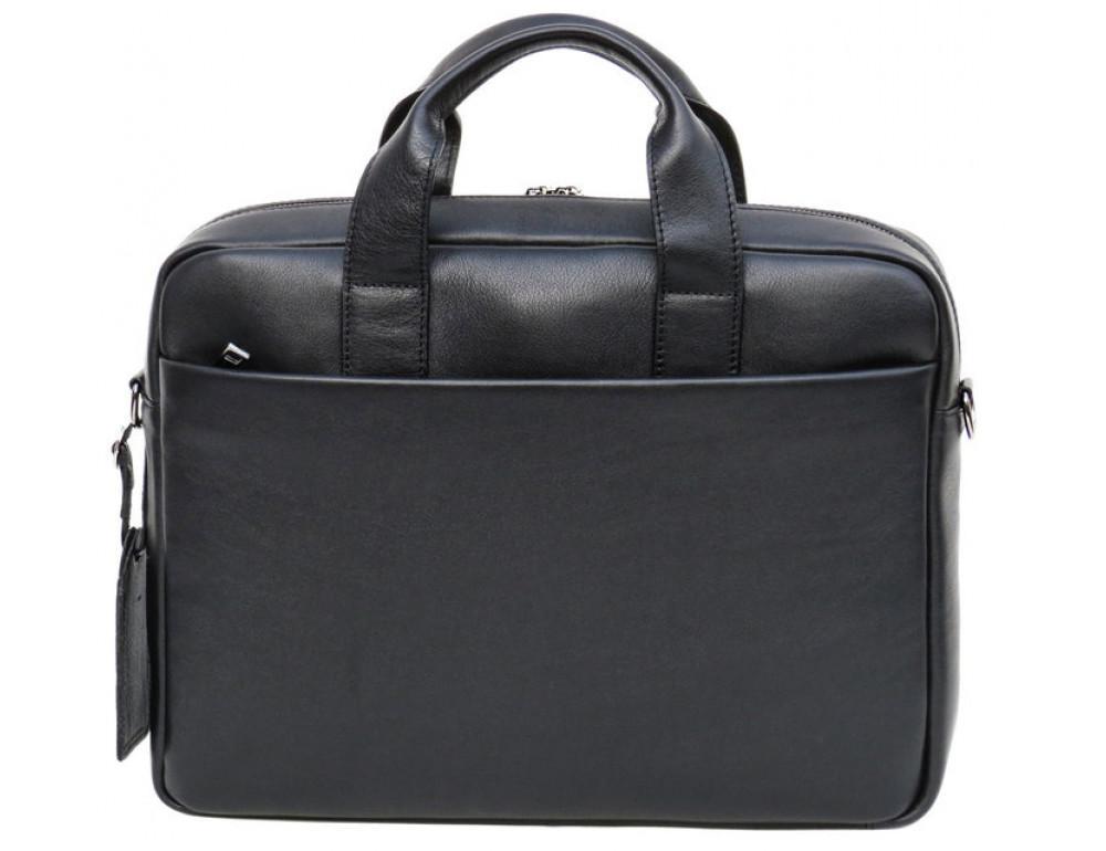 Чоловіча шкіряна сумка Black Diamond BD25-2A чорна - Фотографія № 4