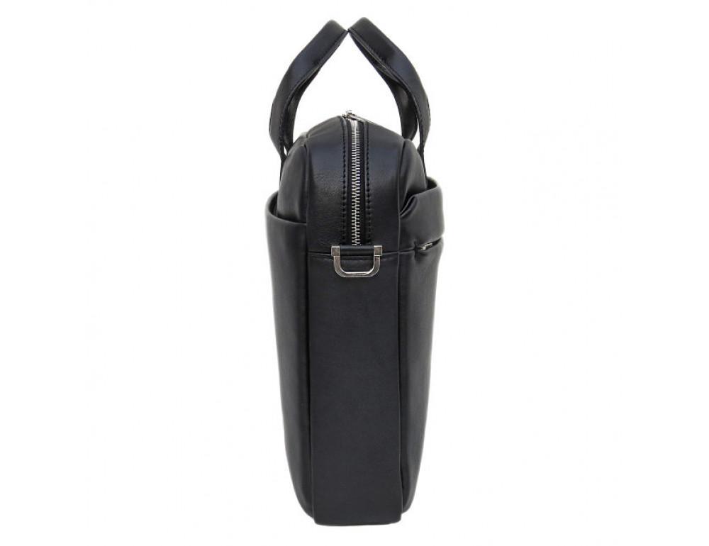 Чоловіча шкіряна сумка Black Diamond BD25-2A чорна - Фотографія № 5
