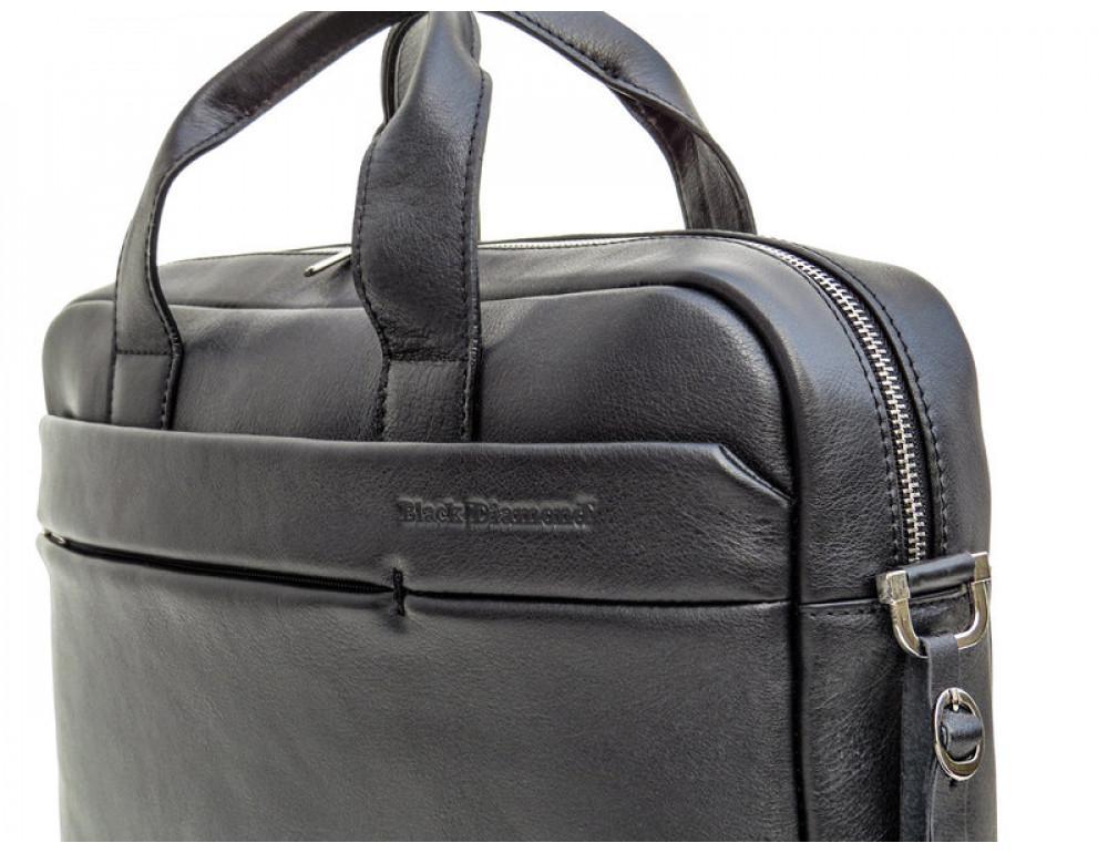Чоловіча шкіряна сумка Black Diamond BD25-2A чорна - Фотографія № 8