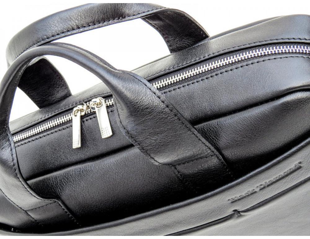 Чоловіча шкіряна сумка Black Diamond BD25-2A чорна - Фотографія № 9