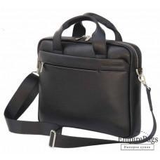 Мужская кожаная сумка Black Diamond BD25A чёрная