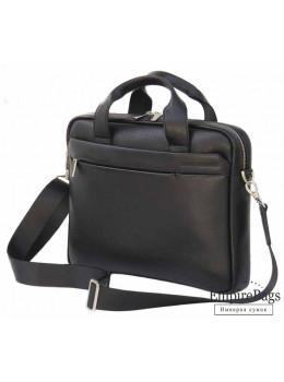 Чоловіча шкіряна сумка Black Diamond BD25A чорна