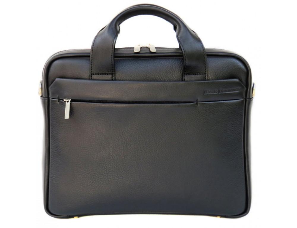 Мужская кожаная сумка Black Diamond BD25A чёрная - Фото № 2