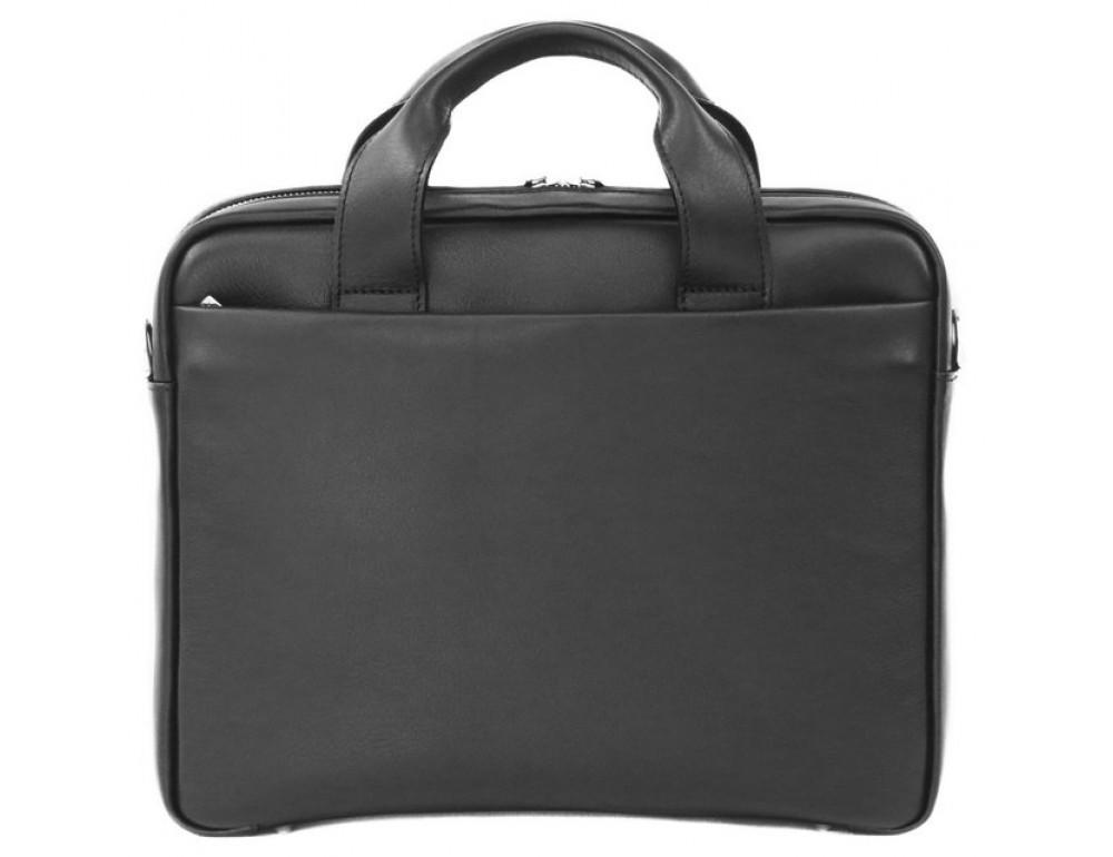 Мужская кожаная сумка Black Diamond BD25A чёрная - Фото № 3