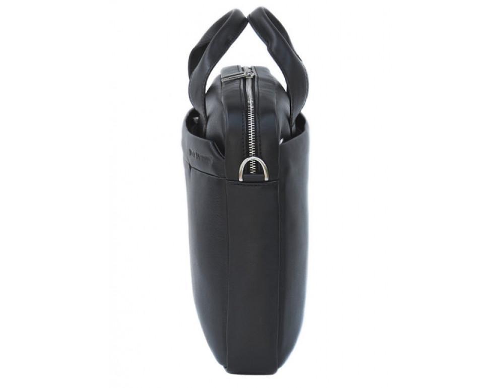 Мужская кожаная сумка Black Diamond BD25A чёрная - Фото № 4