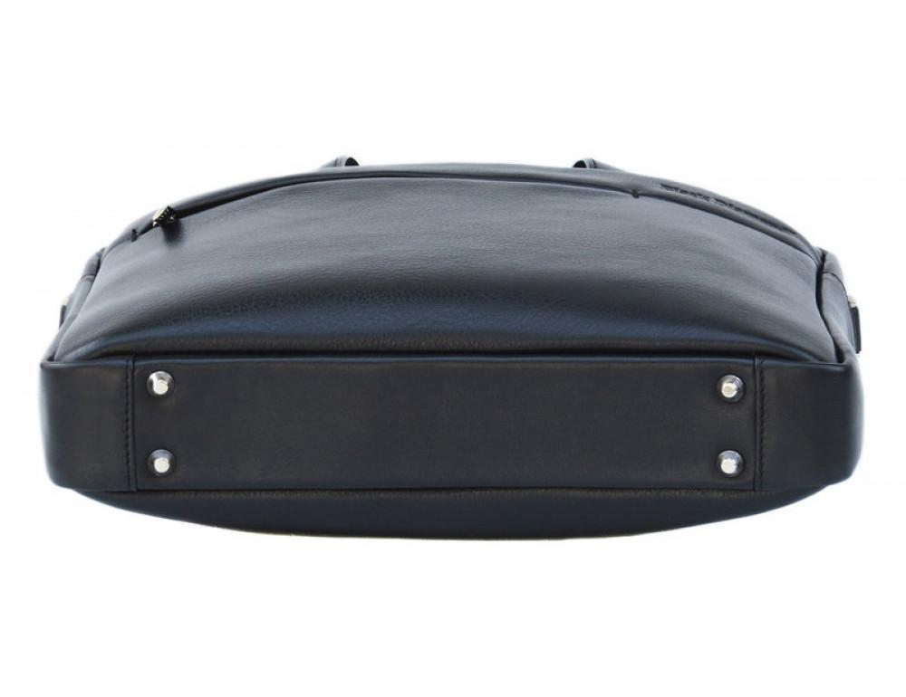 Мужская кожаная сумка Black Diamond BD25A чёрная - Фото № 5