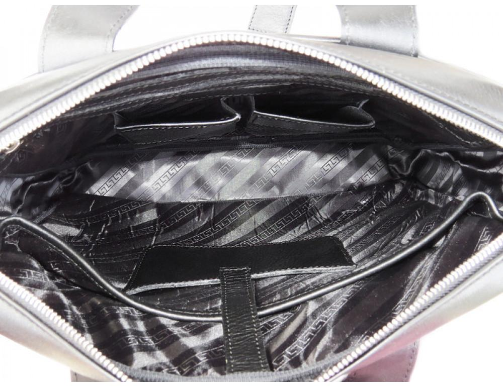 Мужская кожаная сумка Black Diamond BD25A чёрная - Фото № 6