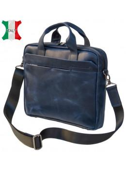 Мужская кожаная сумка Black Diamond BD25D-2 синяя